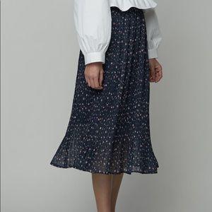 OAK + FORT Navy Print Skirt